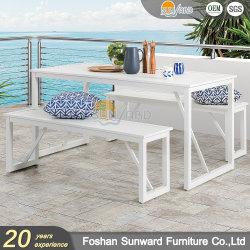 Casa moderna esterna personalizzata Ristorante Villa sedia in alluminio e. Tavolo Giardino patio pranzo tavolo da pranzo mobili da banco