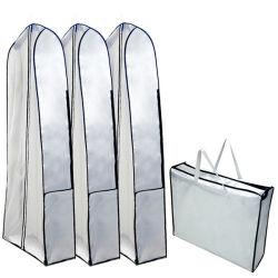 Vêtement de mariée sac non tissé, Custom Commerce de gros de soirée robe de bal robe de mariée de protecteur de tissu étanche aux poussières s'adapter à couvrir les voyages de stockage des emballages sac fourre-tout transporter facile