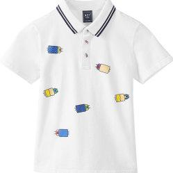 No Verão Moda personalizados Kid's impresso camisa Polo