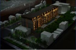 3D Maquette, Apartment Building Sacle Model 1/150