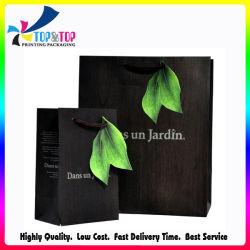 Kundenspezifisches Form-Grün lässt das Weihnachtseinkaufen, das verpackenden Papierhanddrucken-Geschenk-Beutel einwickelt