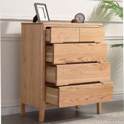 [سليد ووود] بلوط [شست وف درور] [شست وف درور] [نورديك] غرفة نوم أسرة صغيرة أثاث لازم حديثة بسيطة