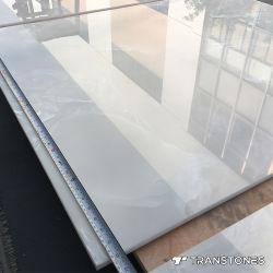 بلّوريّة جليد عقيق بيضاء شفّانيّة [بكليت] حجارة لأنّ فندق جدار