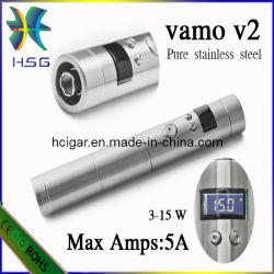 Chroom/Zwart Chroom/Roestvrij e-Sigaret Mod. van Vamo V2 met 18350/18650 Batterij