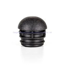 OEM aangepaste ronde kunststof inzetdop einddeksel buis met Schroefdraadmoer/kunststof einddoppen voor stalen buis/Zwart kunststof meubilair Plug voor beengat