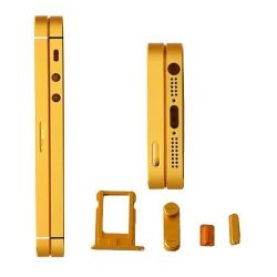 Metall Gold Black u. Middle Housing mit Buttons für iPhone 5s&5