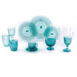 De Tuimelschakelaar van de Diamant van de kleur en het Drinken van het Huwelijk van het Glaswerk van de Drinkbeker Vastgesteld Glas