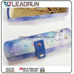 Sol de envases de vidrio aluminio EVA caso gafas gafas Gafas de Metal Case Caja de gafas de óptica de vidrio de hierro (HXX11).