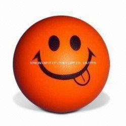PU-Schaumgummi-Antidruck-lächelndes Kugel-Form-orange Farben-Spielzeug