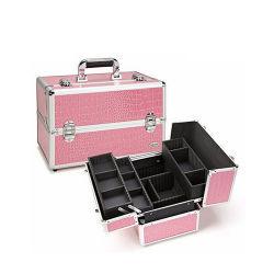 Rose Bonbon Crocodile en PVC rouge vanity case (HB-2052)