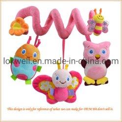 Plüsch angefülltes Minitier-Basisrecheneinheits-Eulen-Insekt-Kind-Spielzeug
