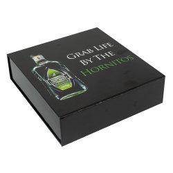 صندوق هدايا مصنوع من مواد زجاجية صلبة لامعة ومطبوع بشكل مخصص