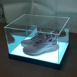 LED 점화를 가진 주문 분리가능한 아크릴 전시 구두 상자