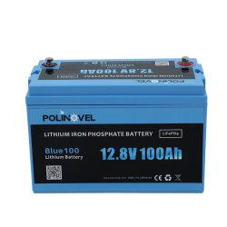Fabricante Polinovel Qualidade Alta 12V 100Ah recarregável de ciclo profundo da energia solar de Armazenamento de Energia Iões de Lítio LiFePO4 Bateria de lítio