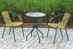 둥근 강철 튜브 파티오 테이블