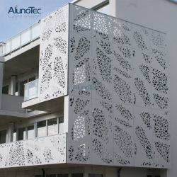 El patrón de belleza muro cortina de aluminio perforado del Panel de fachada exterior