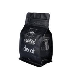 Черный кофе Блок нижней части клапана блокировки Zip пластиковый пакет упаковки продуктов питания