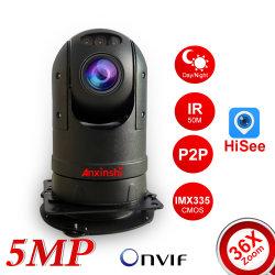 5.0MP 36X 줌 소니 Imx335 Starlight 풀 컬러 차량 시리즈 카메라 옥외 P2P 미니카 IP PTZ 카메라