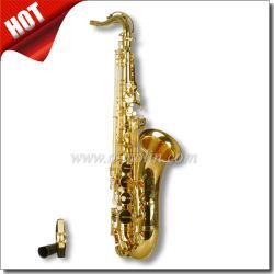 La llave de Bb Saxofón Tenor/ estudiante de la laca de oro saxofón (SP0011G)