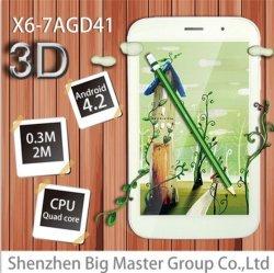 OEM Fabrikant PC van de Tablet van het Glas van de Kern van de Vierling van 7 Duim Vrije 3D