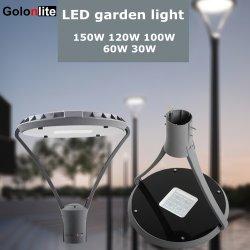 光電池センサーIP66 60W 90W 100W 120W 150Wの装飾的なヤードの道のパスの景色公園公共領域屋外ランプLEDのポストの上の街灯LEDの庭ライト