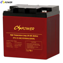 Cspower 12V26ah VRLA Storage Deep Cycle gel Battery Charger Alarm-Security-Backup-Emergency
