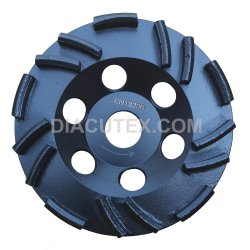rotella stridente stridente concreta della tazza del diamante di 125mm per la smerigliatrice di angolo