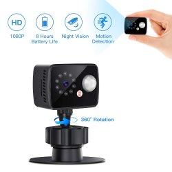 미니 카메라 PIR 동작 감지 카메라 저전력 카메라 HD IR Night Vision 캠코더 DVR Mini Sport가 장착된 1080p 센서 DV 비디오 소형 카메라
