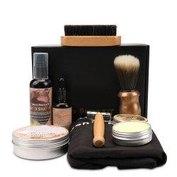 Artz Kit barbe pour les hommes le toilettage & Care W/barbe shampoing Baume d'huile peigne Brosse cadeau de Noël de ciseaux