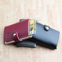 Тонкий блокировки радиочастотной идентификации держателя кредитной карты Smart алюминиевых Wallet