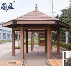 Une utilisation extérieure de jardin en bois composite en plastique WPC Pergola WPC Pavilion