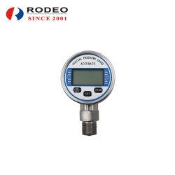 60mm Visor LCD digital sem fio do medidor de pressão do líquido de ar Óleo Combustível Manômetro Hidráulico