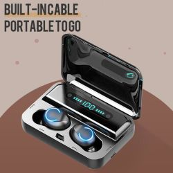 F9-8 TWS 디지털 디스플레이 무선 Bluetooth 이어버드 이어폰형 스테레오 헤드폰