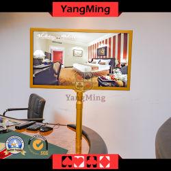 Kundenbezogenheits-Rosen-engagierte doppelseitige HD 1080P frei einziehbare Computer-Bildschirmanzeige des flüssigen Kristall-27inch des Gold-Plated Computer-Monitor-Kasino-