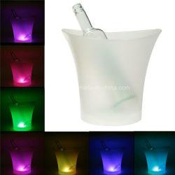 Настраиваемый логотип светодиодный RGB лампы сменные льда ковша бокал шампанского вина напитки напитки пиво охладителя