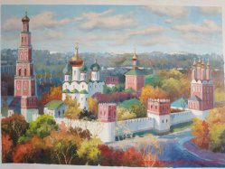 Pittura a olio russa riprodotta di paesaggio per la decorazione domestica