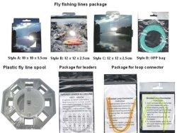 Caixas de papel colorido para Pacote de Linhas de Pesca com mosca e embalagem personalizada