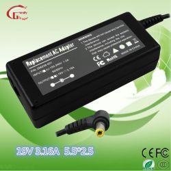 Acer/DEEL/ordinateur portable HP Alimentation du chargeur de batterie 19V 3.165,5*2.5mm 60W