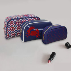 3PCS/Set Makeup Bag Fashion Ladies Bag Cosmetic Case Clutch Bag Special Printing Travel Bag