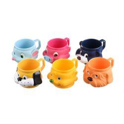 O Plástico Sorvetes Cartoon Cup 3D figura Cup Forma Animal Misturador 8 oz Cup