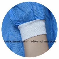 100% polyester filé Poignets tricotés pour une Blouse chirurgicale