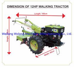 Cultivateur agricole avec 12HP pour l'exportation du moteur