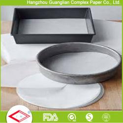 Silicone personalizado em pergaminho em círculos de papel de cozedura a camisa da bandeja