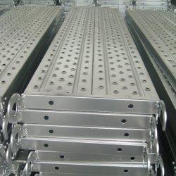 Trampolín de acero galvanizado de tablones andamios al aire libre con gancho o