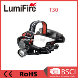 Zoom aluminio R2 de XP-E Rechargeble faros LED