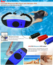 Radio FM impermeabile cuffia Nuoto lettore MP3 subacqueo