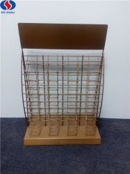 Revestimiento de polvo de color dorado metal de hierro personalizada pantalla mosaico invenciones Rack Stand