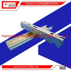 Placa de gesso de metal da estrutura da barra de aço Acessórios Channel tecto falso