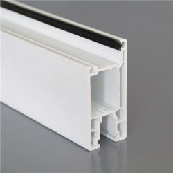 إطار إطار إطار الإطار الخارجي للنوافذ البلاستيكية UPVC/PVC بحجم 112 مم