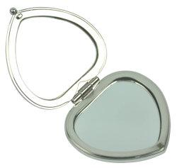 Coração Metal Espelho Pocket Mirror Compacto Cosméticos